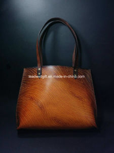 Handmade Leather Shopper Shoulder Women Bag Tote Bag pictures & photos