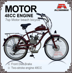 48cc Engine 7 Speed Motor Beach Cruiser Bicycle (MB-04-1) pictures & photos