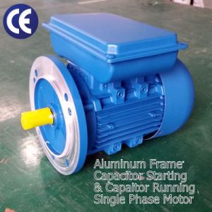 Single Phase Motor (0.55kW- 0.75HP, 230V/50Hz, 3000rpm, Aluminum Frame B5) pictures & photos
