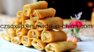 IQF Frozen 100% Hand Made Vegetable 15g/Piece Cylinderical Elongated Spring Rolls pictures & photos