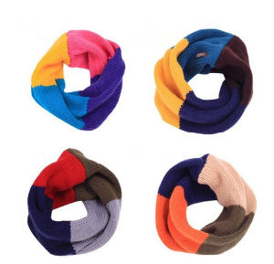 Wool Material Custom Winter Warm Cotton Knitted Scarf pictures & photos