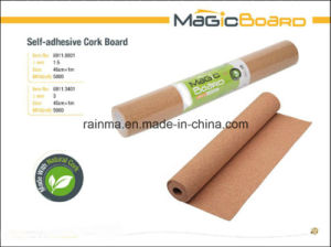 Self-Adhesive Cork Board for Shool and Office Supply pictures & photos