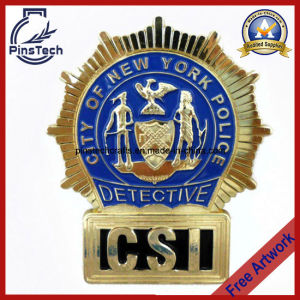 Csi Badge, 3D Badge City of New York Police Detective Badge pictures & photos