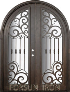 Customized Wrought Iron Door Models pictures & photos