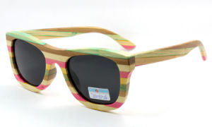 Colorful Wood Sunglasses (JN0010) pictures & photos