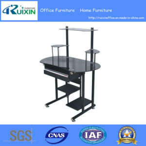 Glass Office Table Furniture with CD Holder