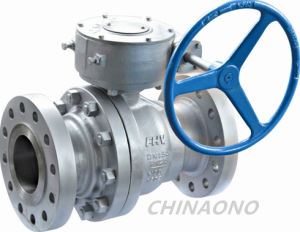 API Worm Gear Stainless Steel Ball Valve pictures & photos