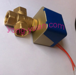 Electric Actuator Valve 2-Way Brass Motor Operated Valve for Fan Coil (BS-818-15) pictures & photos
