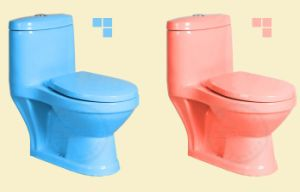 Hot Sell Colorful Children One Piece Toilet for Kindergarten pictures & photos