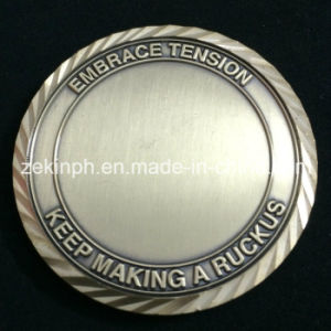 Customized Challenge Coins with Diamond Cut Edge pictures & photos