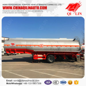 3 Axles 7000 UK Gallons Corrosive Chemical Tank Semi Trailer pictures & photos