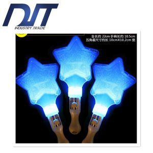 Five-Pointed Stars Flashing Rainbow Stick Lights for Concert pictures & photos
