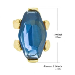 Fashion Jewelry Big Blue Artificial Glass Gems Engagement Rings pictures & photos