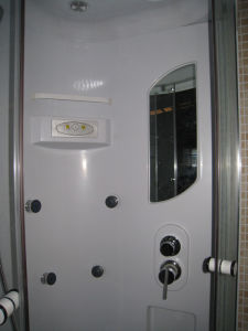 Bathroom Small Round Glass Cabin Steam Shower Cubicle Price pictures & photos
