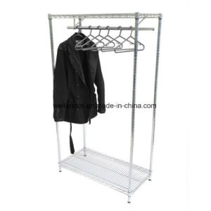 Chrome Wire Shelving Shelves Display Racking with Clothes Rail Retail/Home pictures & photos