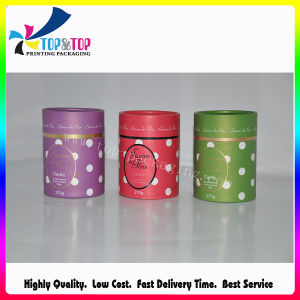 Paper Round Gift Packaging with Foil Stamping Custom Logo pictures & photos