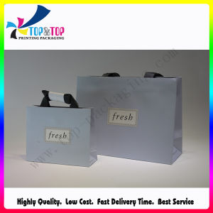 Promotional Boutique Logo Printed Recyclable Paper Shopping Bags pictures & photos