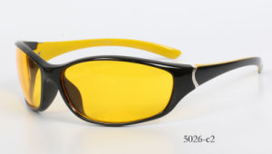 New Fashion Plastic Frame Sports Sunglasses 5026