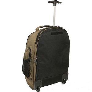 Double Shoulders Rolling Trolley Laptop Bag Backpack with Hidden Trolley pictures & photos
