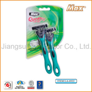 High Quality Compete with Sharp Platinum Coated Stainless Steel Blade Popular in Austrilia Disposable Razor (LA-6922) pictures & photos