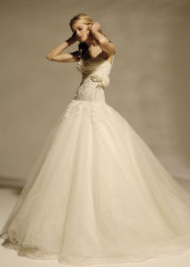 Tulle Ball Gown Wedding Dress (018)