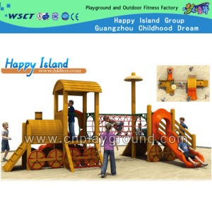 High Quality Wooden Outdoor Playground Set on Promotion (HD-5601) pictures & photos