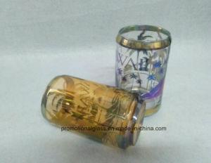 11oz Inner White Glass Mug with Metallic Logo, Promotional City Glass Mug pictures & photos