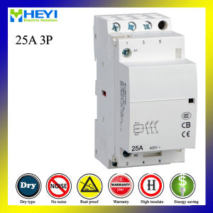 Home Modular AC Contactor 25A 3 Pole pictures & photos