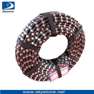 Skystone Wire Saw with Rubber for Granite Cutting pictures & photos