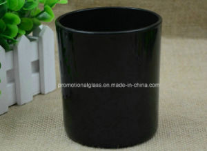 Gy8090 Black Glass Candle Holder