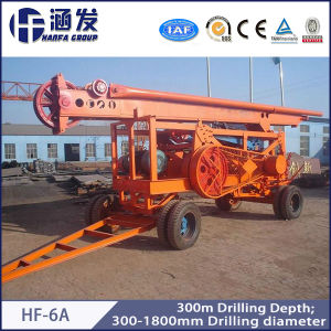 Hf-6A Cable Percussion Drill Machine Price Trailer Drilling Rig pictures & photos