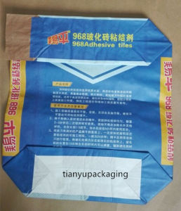 Mutiwall Strength 50kg Sack Kraft Paper Bag for Cement Powder pictures & photos