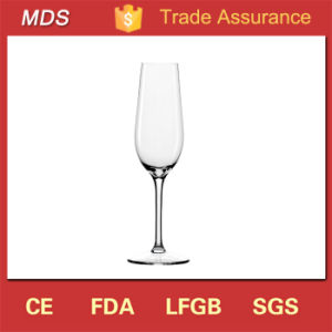 High Quality Glitter Handblown Glass of Champagne Flute Logo pictures & photos