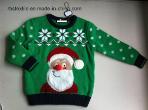 Boys Santa Acrylic - True Knitted Sweater pictures & photos