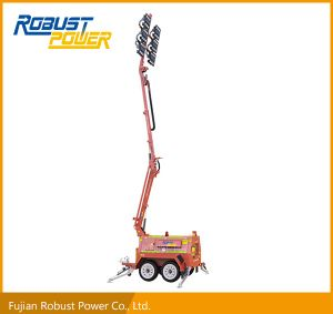 Four Folded Hydraulic Heavy Duty Trailer Mobile Lighting Tower pictures & photos
