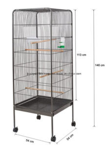 Flat Top Roof Metal Large Bird Cage, Parrot Cage pictures & photos