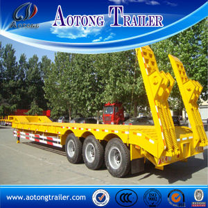 China Supplier 50tons Heavy Duty Low Flatbed Semi Trailer for Sale pictures & photos