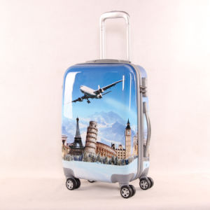 Leisure Suitcase Girl PU Luggage Printing Travel Universal Wheel 2024 Inch One Generation pictures & photos