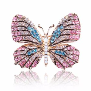 Rhinestones Beautiful Decoration Butterfly Badge with Pin on The Back pictures & photos