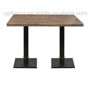 French Industrial Restaurant Table Wooden Dining Table (SP-RT500) pictures & photos
