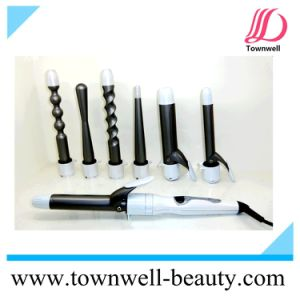 8 in 1 Interchangeable Digital Hair Curler with LCD Display 3 in 1 pictures & photos