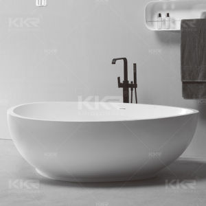 Custom Made Solid Surface Stone Resin Freestanding Bath Tub (171025) pictures & photos