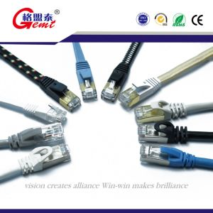 Customized Cat7 Patch Cord Nylon Braiding pictures & photos