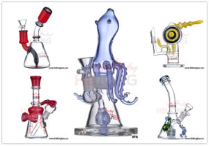 High End Klein Recycler Glass Smoking Pipe 5 Colors Glass DAB Oil Rig pictures & photos