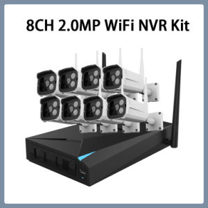 8CH 1080P Wi-Fi IP CCTV Security Kit Wireless NVR System Camera Plug-and-Play VGA HDMI pictures & photos