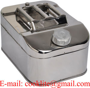 304 Stainless Steel Jerry Can 10L Horizontal Fuel Water Storage for Boat/Car/4WD pictures & photos