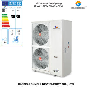 CE, TUV, En14511, Australia Ceritifcate 220V Outlet 60deg. C R410A 3kw, 5kw, 7kw, 9kw Circle Heating Small Heat Pump Air Water Split pictures & photos