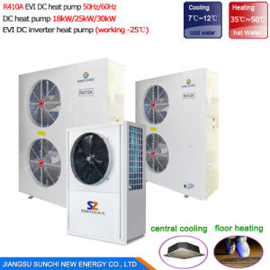 Commercail Heating R410A Cop4.23 12kw, 19kw, 35kw, 70kw, 105kw Dhw for Small Bathroom Water Heater Air Heat Pump (CE, TUV, CB, SGS) pictures & photos