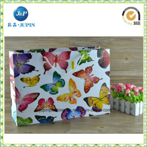Manufacture Custom White Kraft Paper Handle Bag with Logo (JP-PB016) pictures & photos