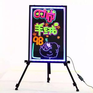 Rectangle Aluminum Frame RGB Flashing LED Writing Board pictures & photos